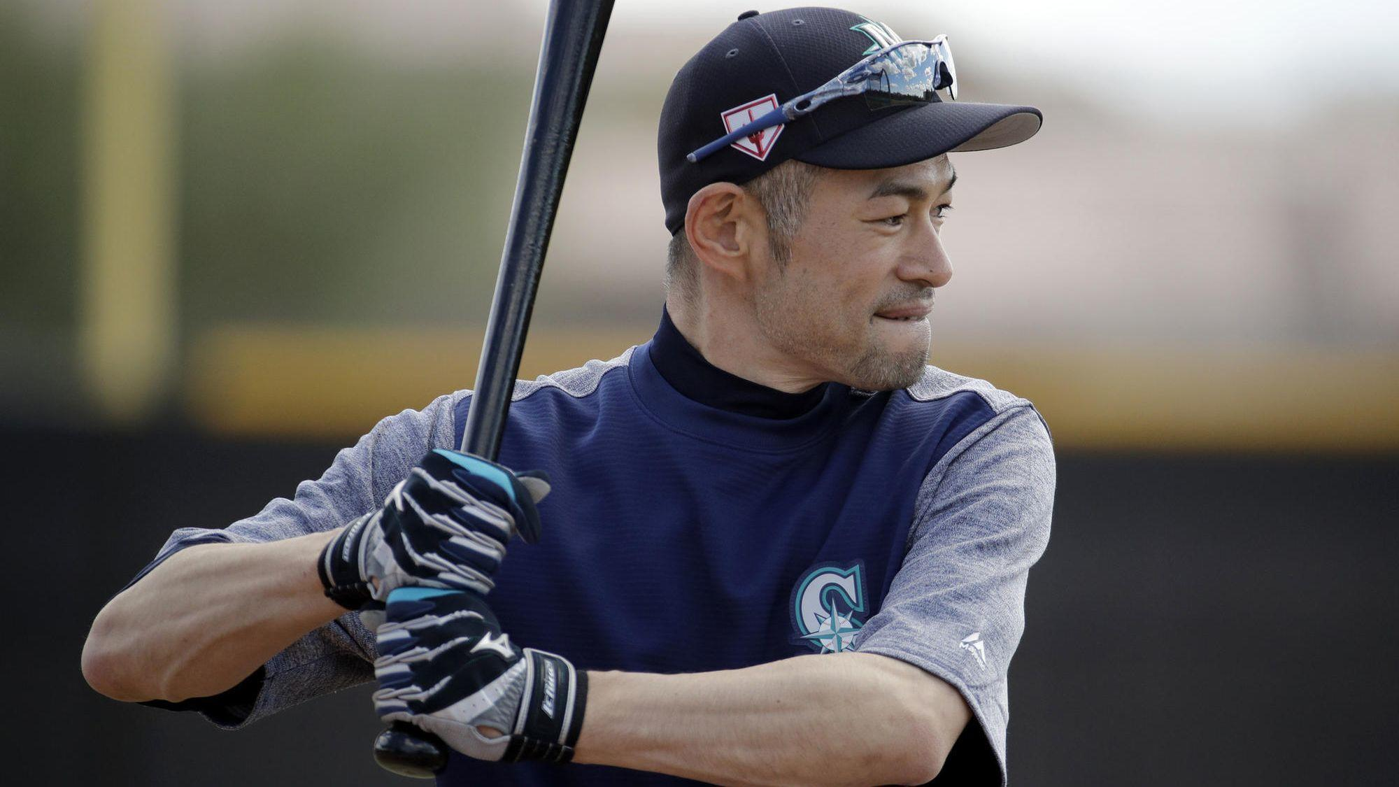 fb4fc703cc Ichiro Suzuki back in camp with the Mariners at age 45 with a chance to  play in 2-game series in Tokyo