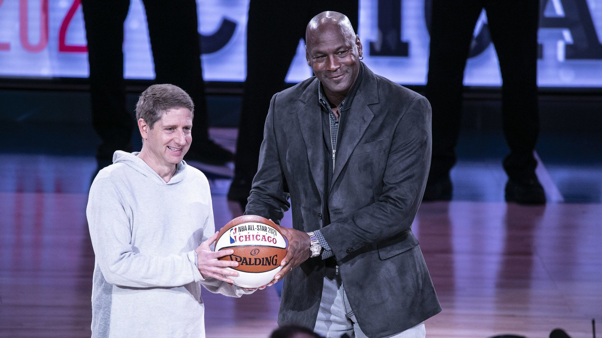 df7f9568eef346 The Bulls are on the clock as hosts of the 2020 NBA All-Star Game   Let s  just hope there s not a polar vortex . Michael Jordan and Michael Reinsdorf
