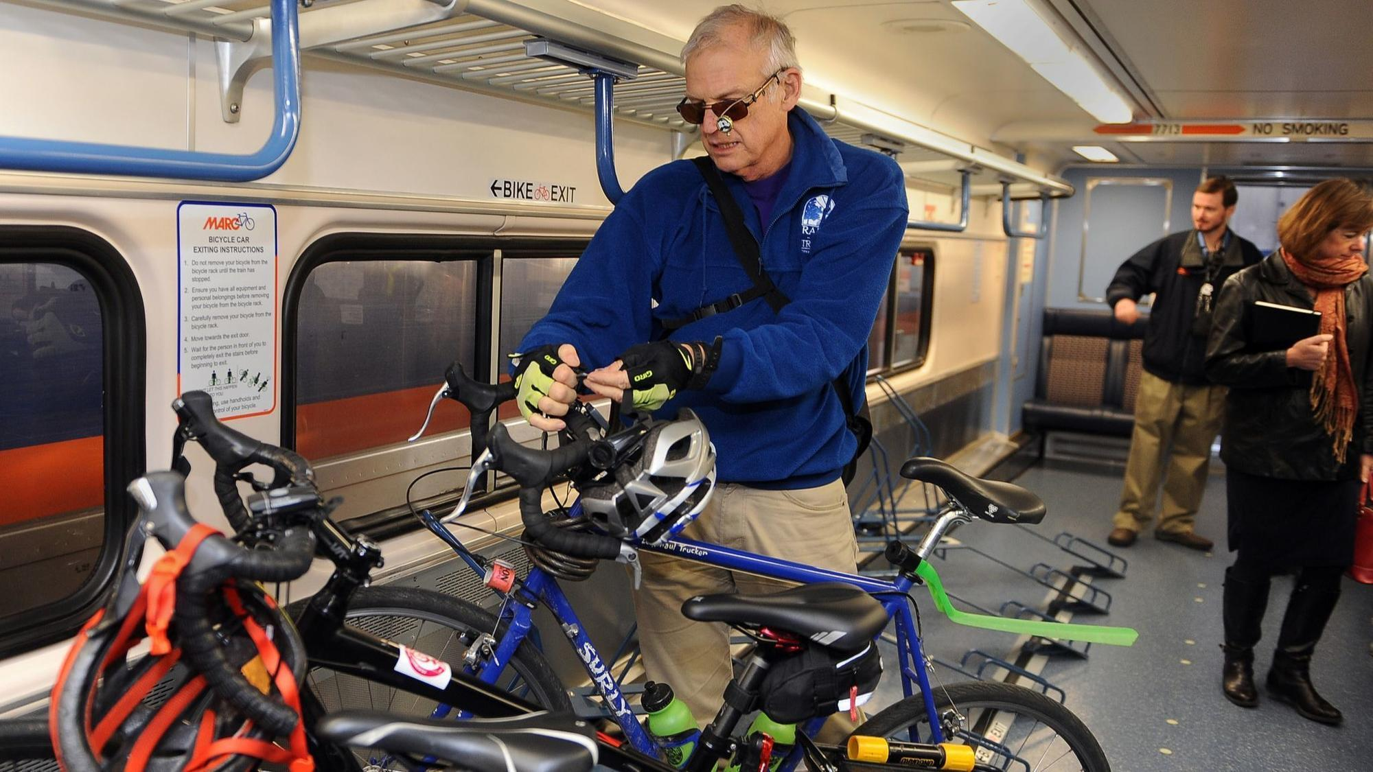 Bike racks now available on most weekday MARC trains, Maryland Transit Administration says