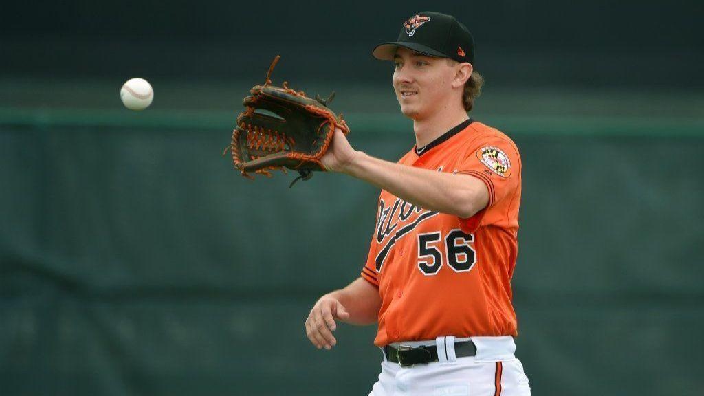 d0bcfd9a9 Brandon Hyde  Orioles prospect Hunter Harvey  electric  in live batting  practice session - Baltimore Sun