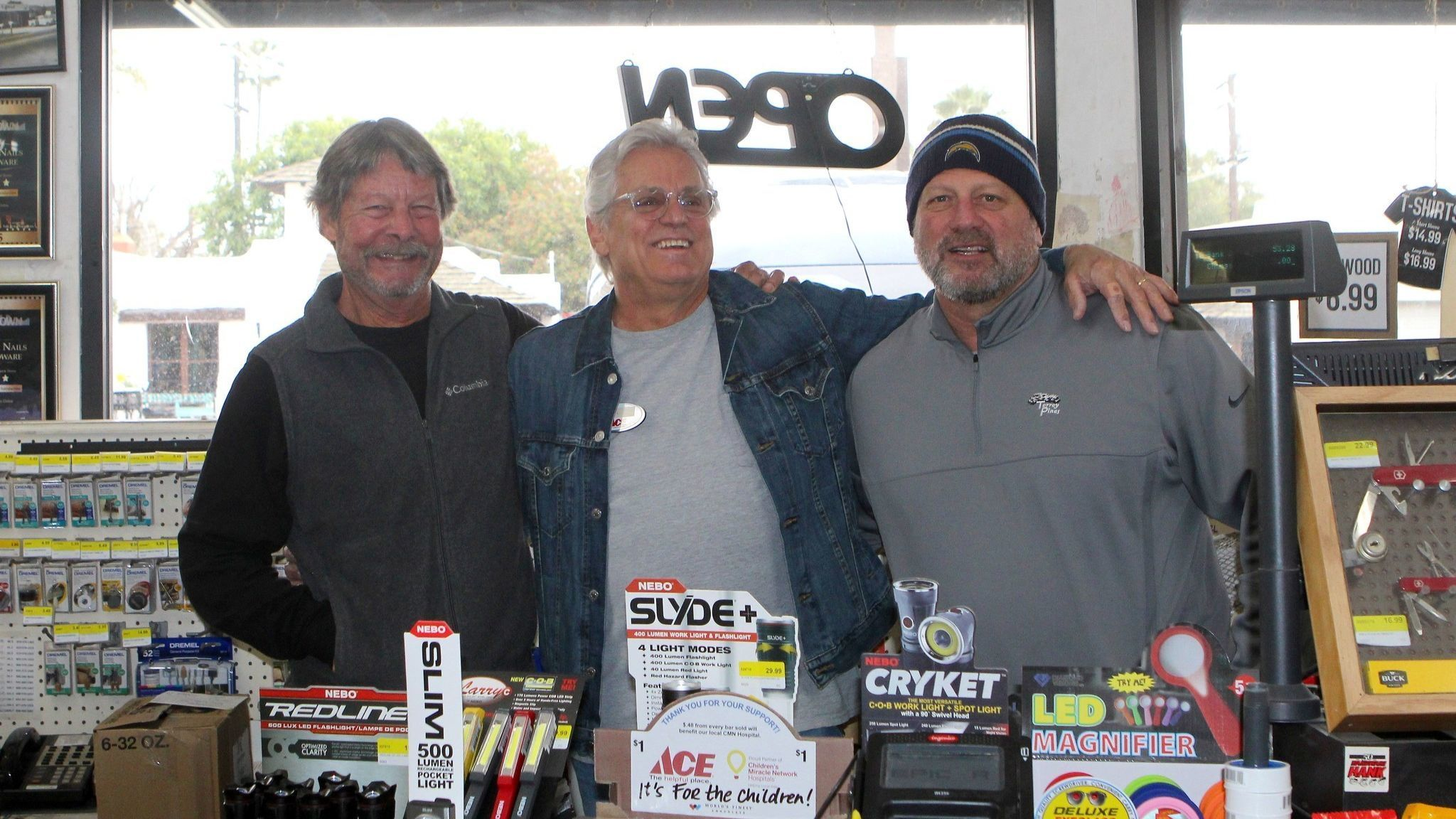 Hammer & Nails owner Bill Meanley and manager Ron Roman say they love working with Walby.
