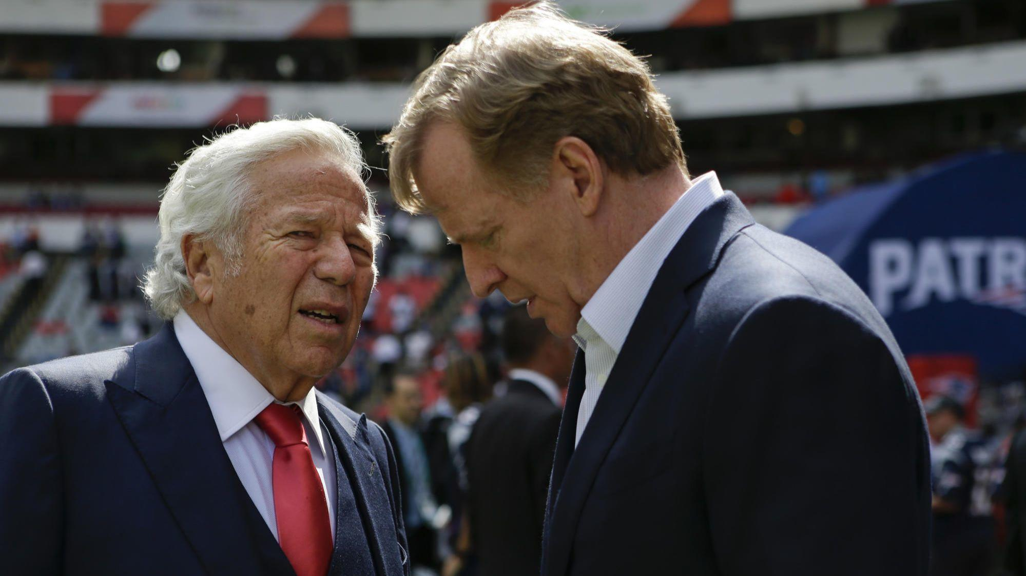 NFL commissioner Roger Goodell has wide-ranging powers to fine or suspend Pats owner Robert Kraft