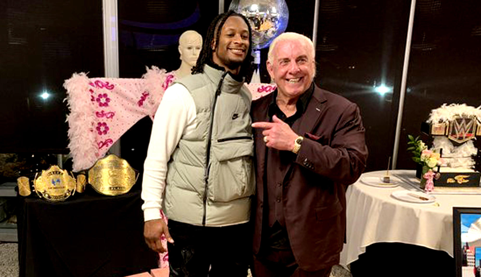 'Wooooo!' Ric Flair gets a surprise 70th birthday party