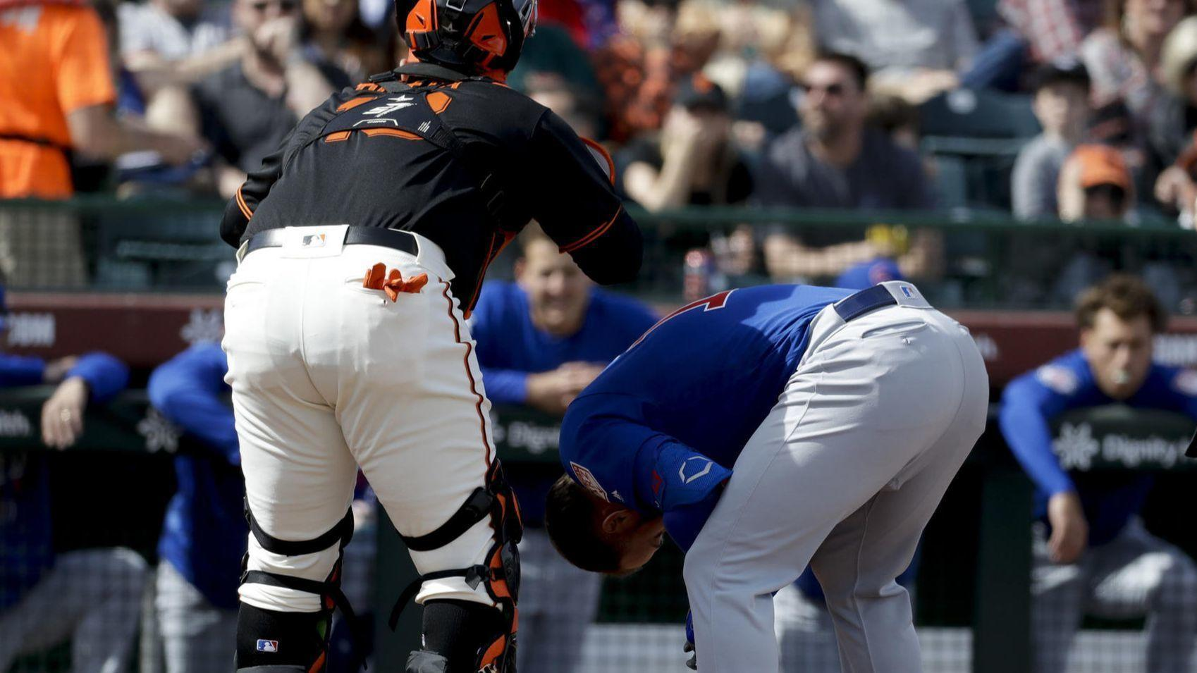 Cubs' David Bote beaned; Addison Russell hits single in ...