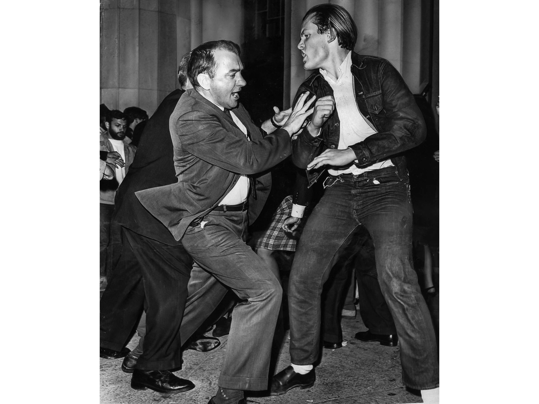 March 9, 1965: A deputy U.S. marshal, left, struggles with a civil rights demonstrator during a melee