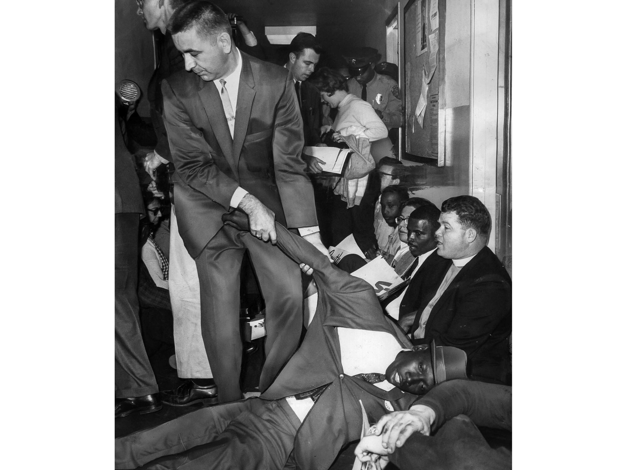 March 9, 1965: Sit-in protesters being removed from hallway in the U.S. Attorney General's office in