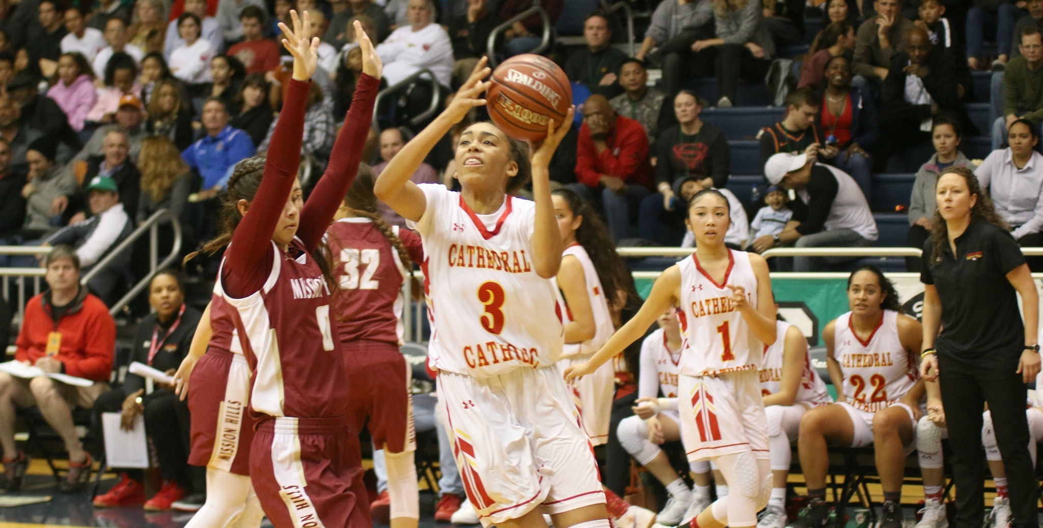 Junior Mazatlan Harris starred on both ends of the court for Cathedral Catholic.