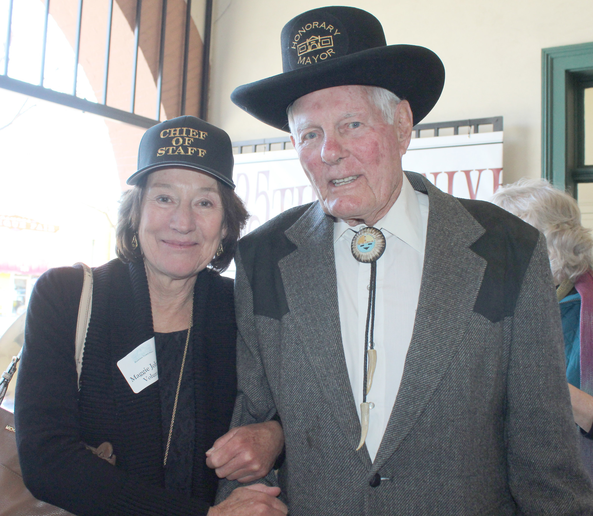 Honorary Mayor John Degenfelder and Maggie Johnson, his chief of staff.