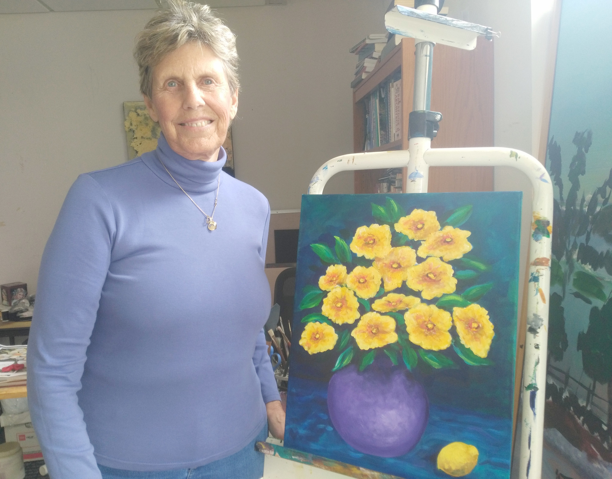 Molly's traditional acrylic paintings can be seen at 2Create Gallery in Ramona and the Del Mar Art Center Gallery.