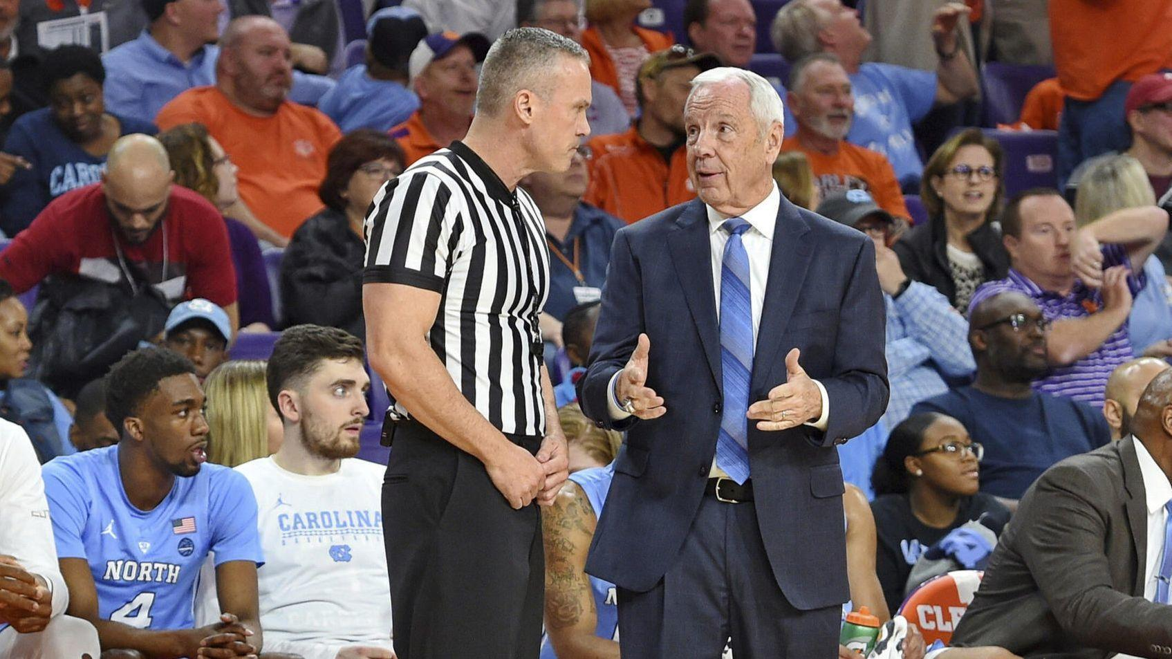 Roy Williams Falls Near Bench Helped Off Court During