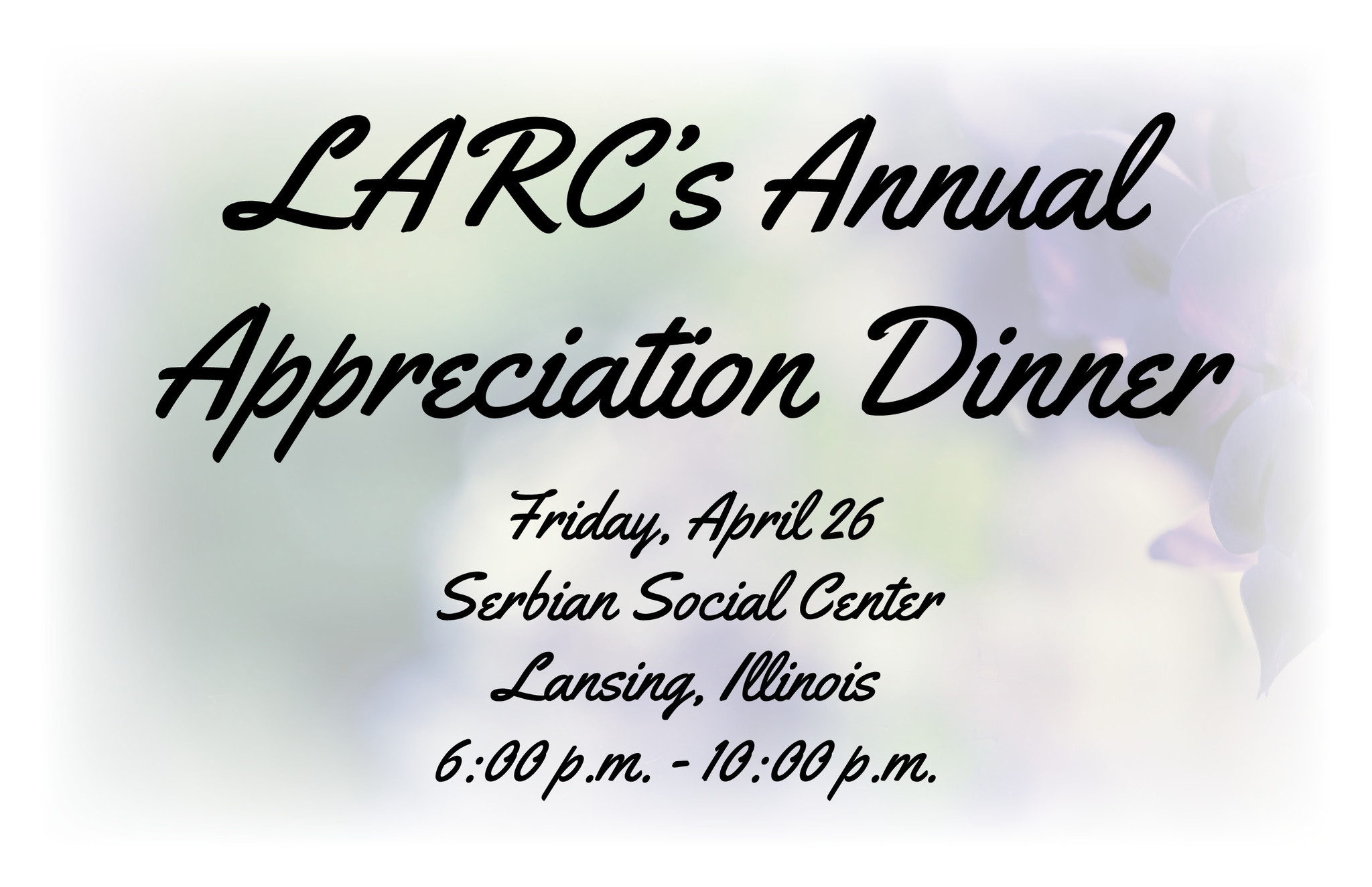 Tickets On Sale For Larc Appreciation Dinner Daily Southtown