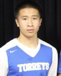 La Jolla Country Day point guard Raymond Lu has been a key contributor in the  Lu (5) hits a layup under coverage from Carlsbad's Caleb Nelson (32) and Jailen Nelson (10), right,