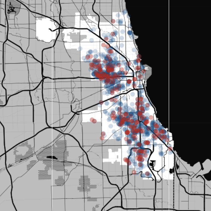 Crime Heat Map Great Chicago Crime Heat Map Map Shootings In Chicago ...