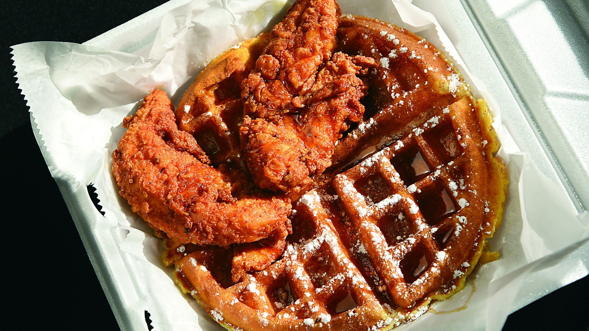 Baltimore, MD-1/9/17 - The #1 special, a buttermilk waffle with chicken tenders, is the most popular
