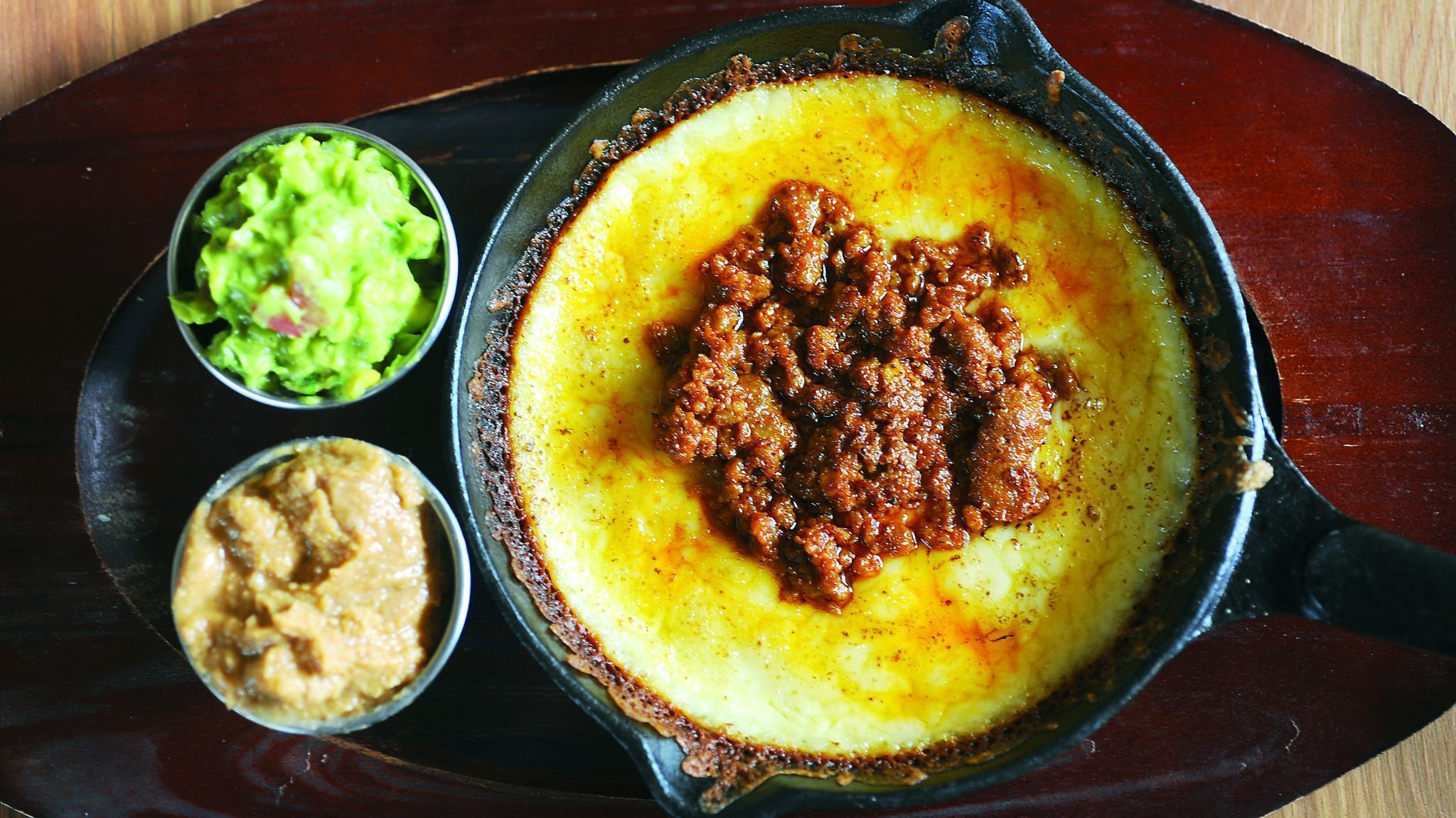 Baltimore, MD-7/9/15-- Queso fundido is on the menu at the Clavel restaurant in Remington. Algerina