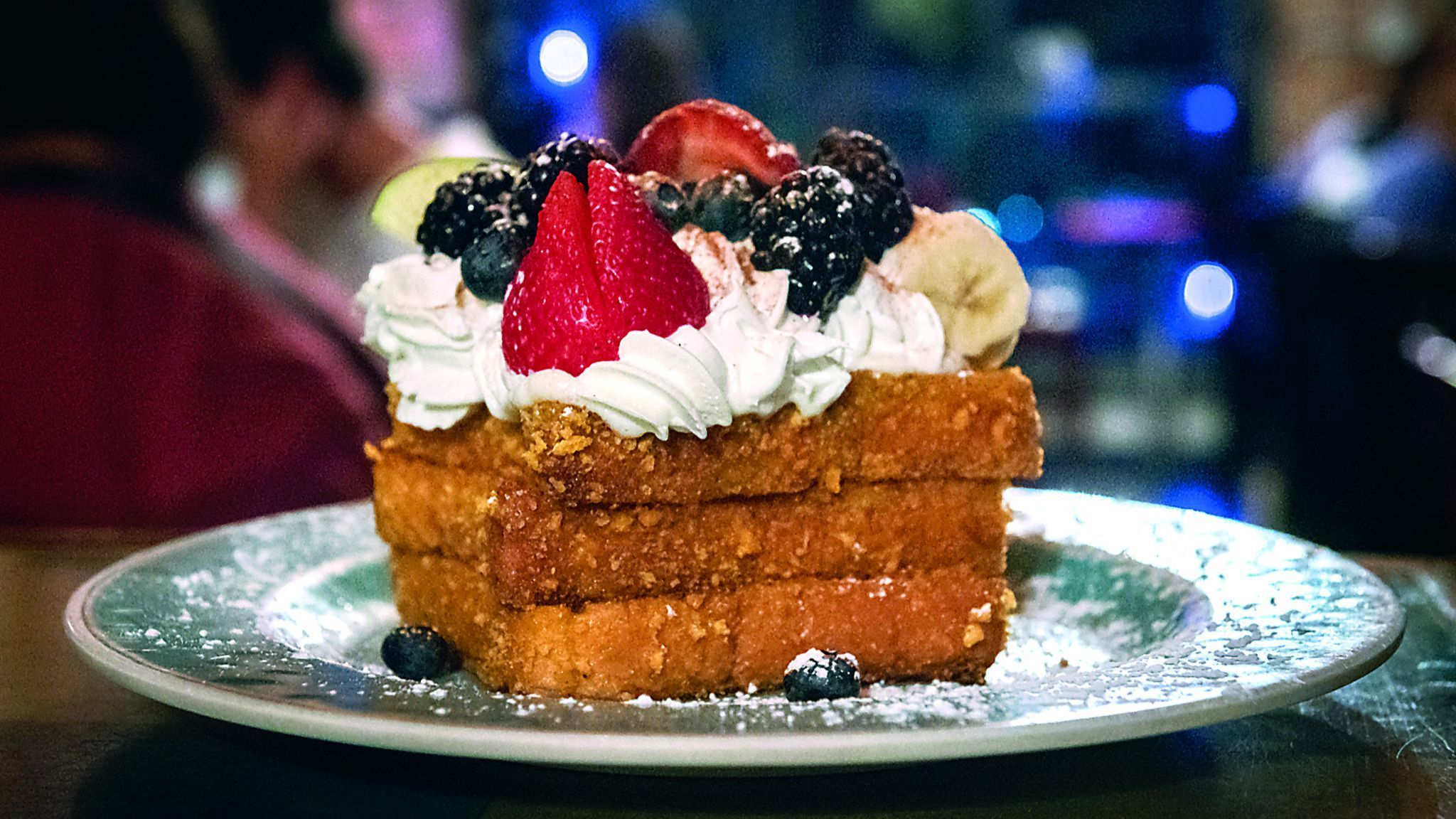 The Captain Crunch French Toast served at the Blue Moon Cafe in Fells Point. The restaurant is open