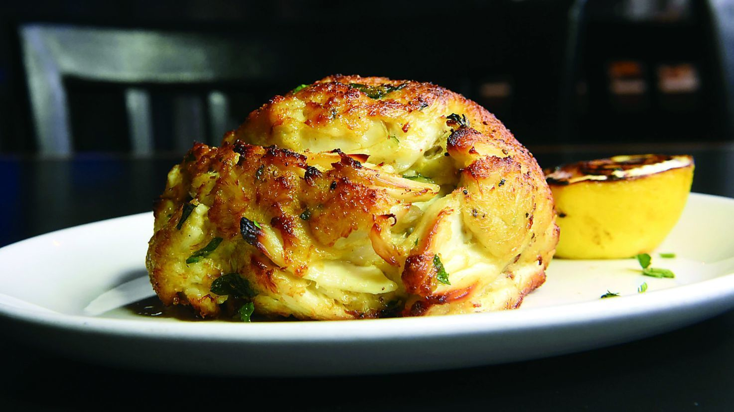 Dundalk, Md--9/18/18--Broiled Crab Cake at Jimmy's Famous Seafood. Kim Hairston/Baltimore Sun Staf