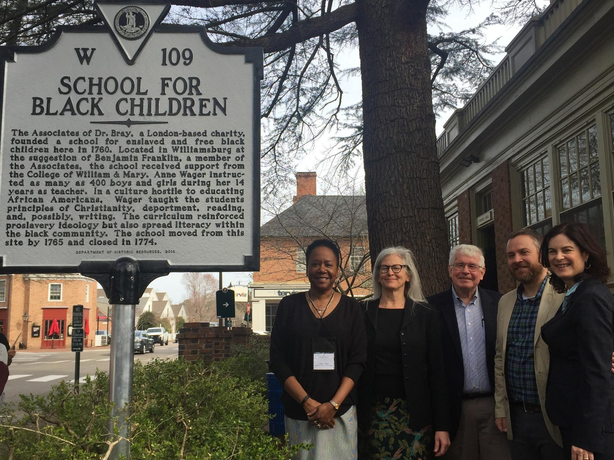 William and Mary places marker on N. Boundary Street to honor school for black children