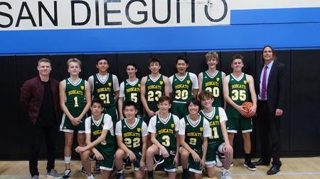 Carmel Valley Middle School Bobcats 8th Grade Basketball Team Wins