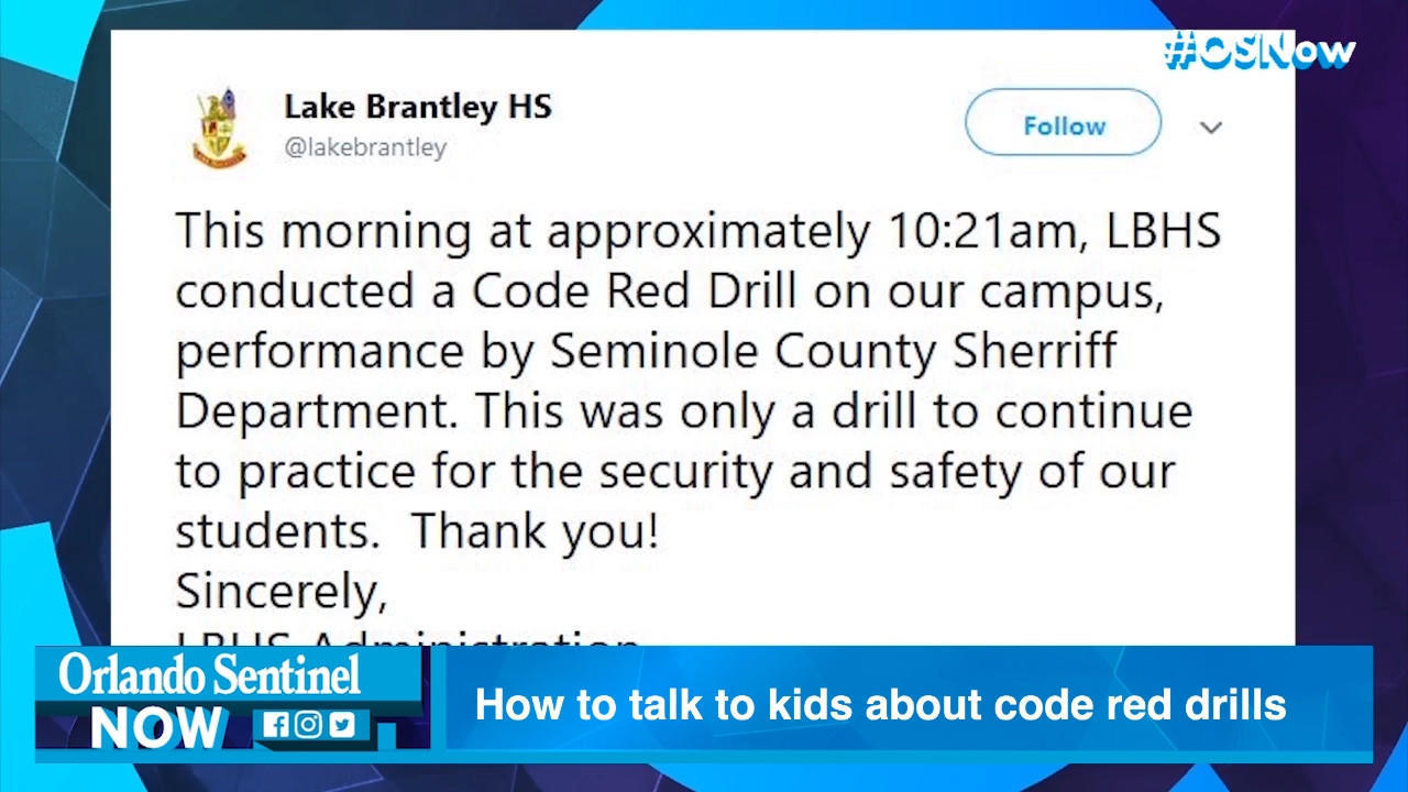 My 5-year-old had a nightmare after a code red drill  Are