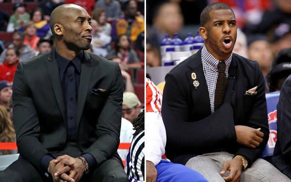8fe91dbbe8e Kobe Bryant and Chris Paul are more than spectators - LA Times