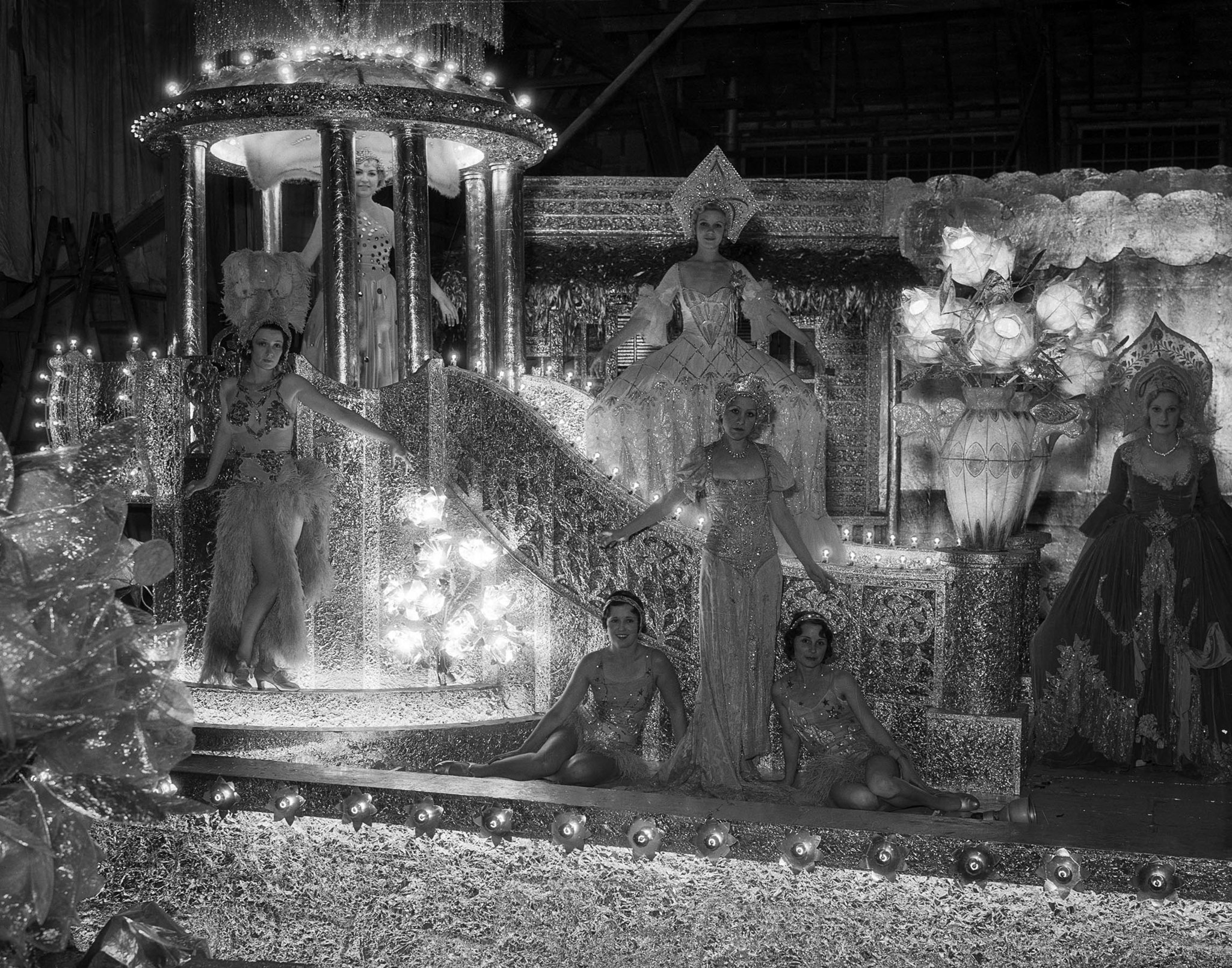 Sep. 24, 1932: The Warner Brothers float at the Electrical Parade and sports pageant in the Memorial