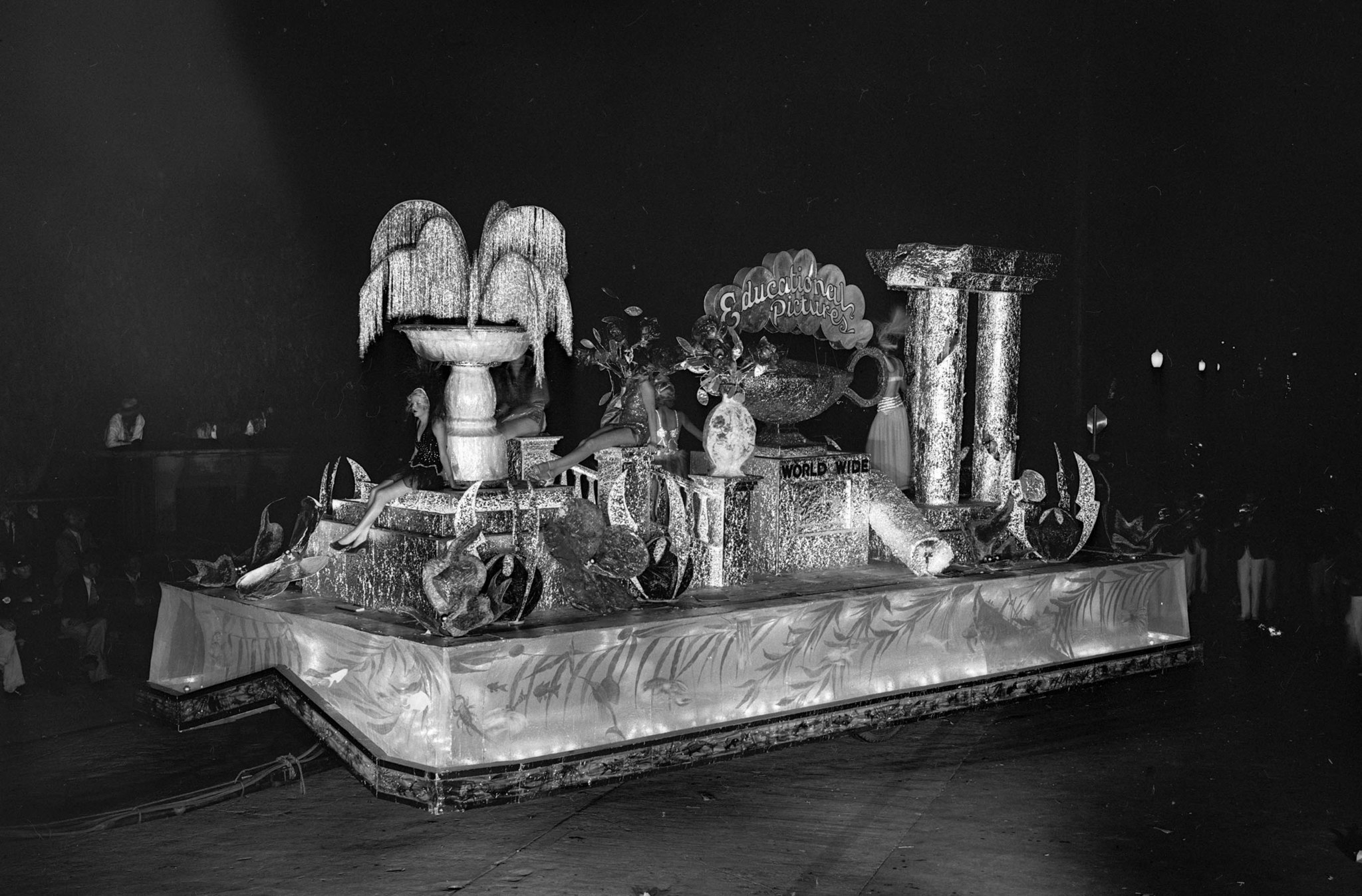 "Sep. 24, 1932: ""Submarine Garden"" float from Educational Pictures at the Electrical Parade and sport"
