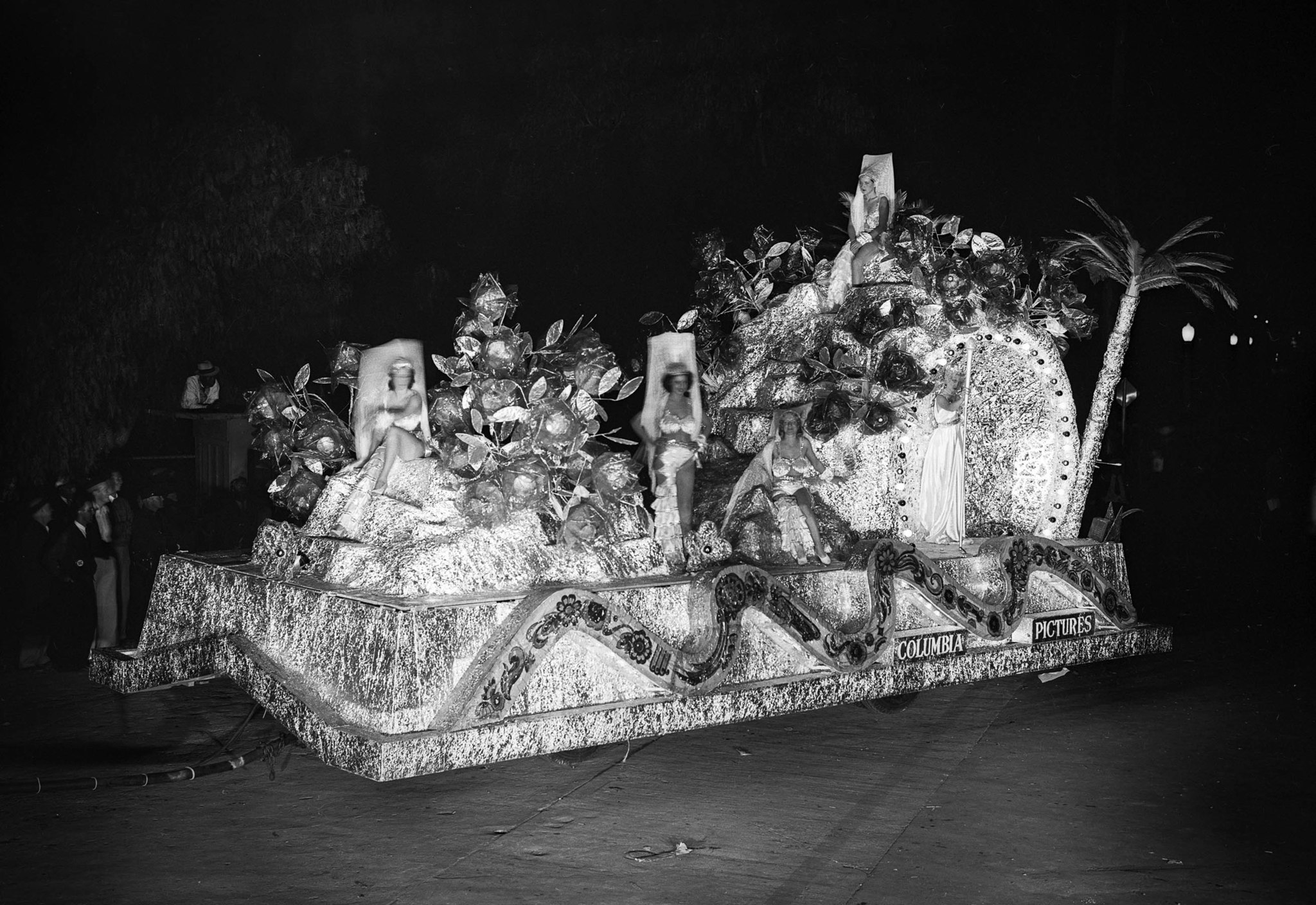 "Sep. 24, 1932: ""Rock of Gibralter"" float at the Electrical Parade and sports pageant in the Memori"