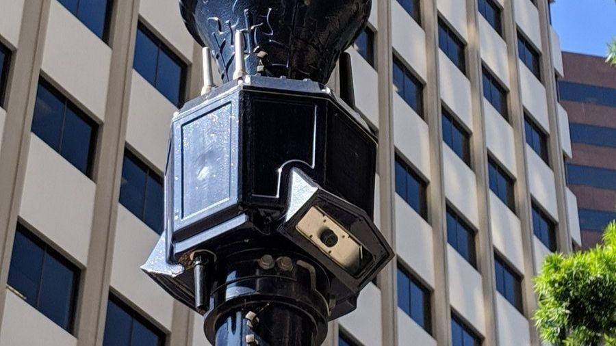 Smart node cameras in downtown San Diego