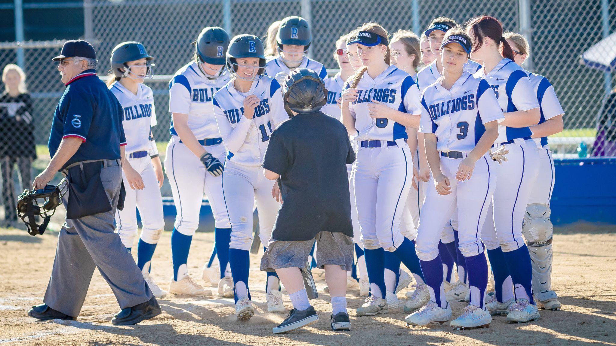 "Ramona High softball team ""ready to click,"" says coach."