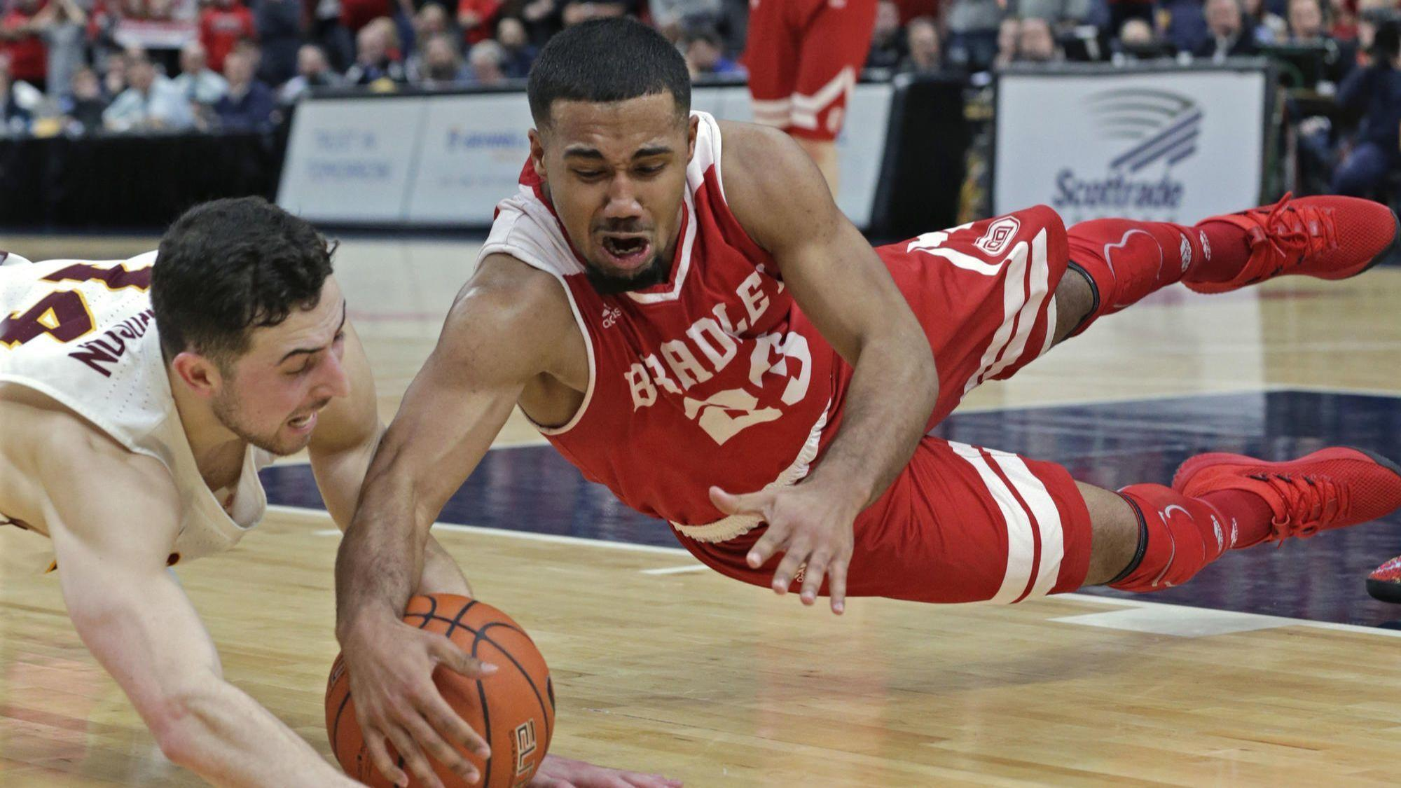 How did Bradley compile an NCAA Tournament team? 'Worldwide' recruiting with players from 6 foreign countries