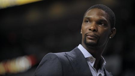 5c458470f Only after exhale can Chris Bosh breathe in joy of Heat jersey retirement