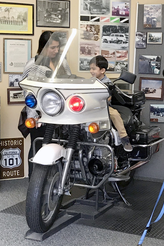 SAN DIEGO, CA-- Kids can climb aboard motorcycles and let the sirens wail and lights flash at the Wi