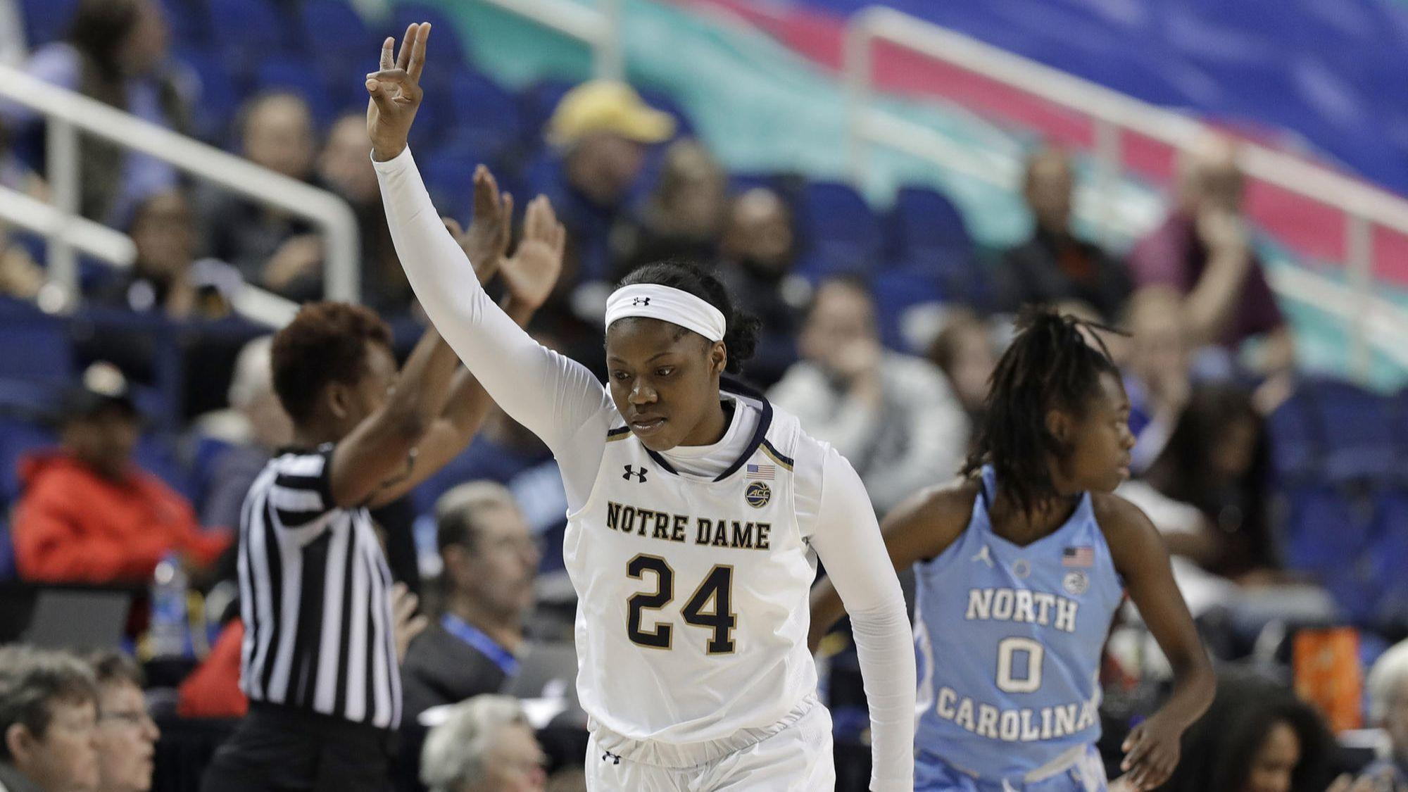 4cc6c367ffe4 The highlight of Arike Ogunbowale s year in the national limelight    Winning a national championship.  And now she s out to do it again for Notre  Dame.