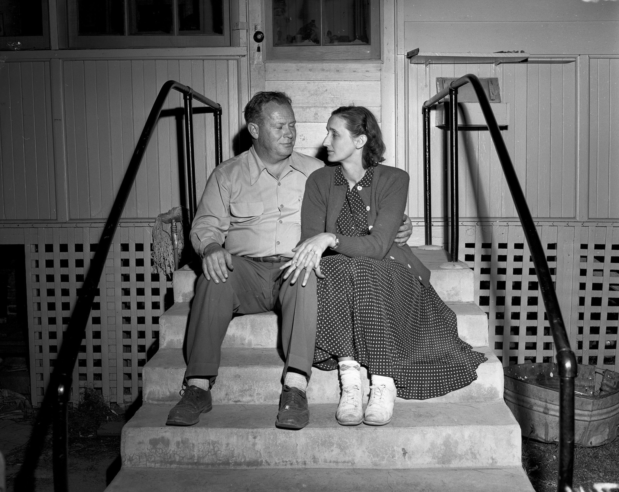 April 9, 1949: Mr. and Mrs. David Fiscus during rescue operations in San Marino of their daughter Ka
