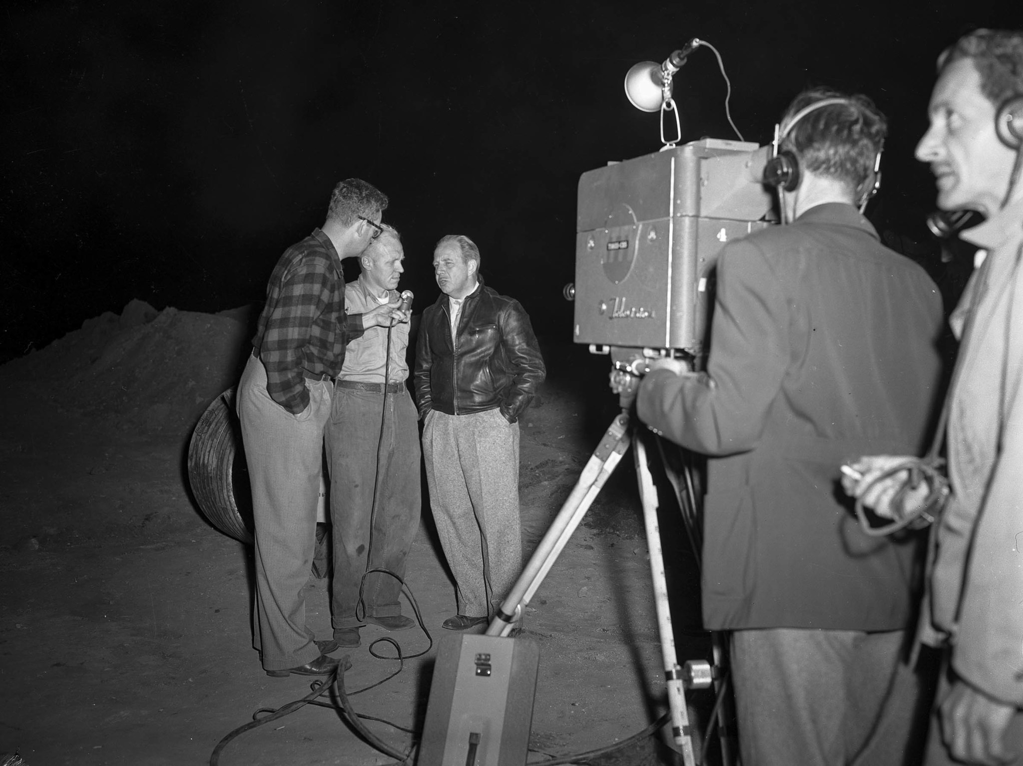 April 9, 1949: KTTV - 11 television coverage of Kathy Fiscus rescue attempt in San Marino. No other