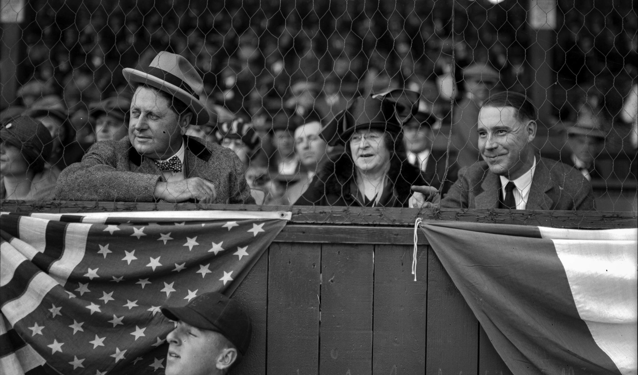 Apr. 7, 1925 Los Angeles Angels owner William Wrigley Jr., left, and wife Ada attend season opener a