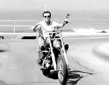 Geoff Gage, shown in a still from the film shot at Windansea, stars as a Vietnam Marine coming home to La Jolla.