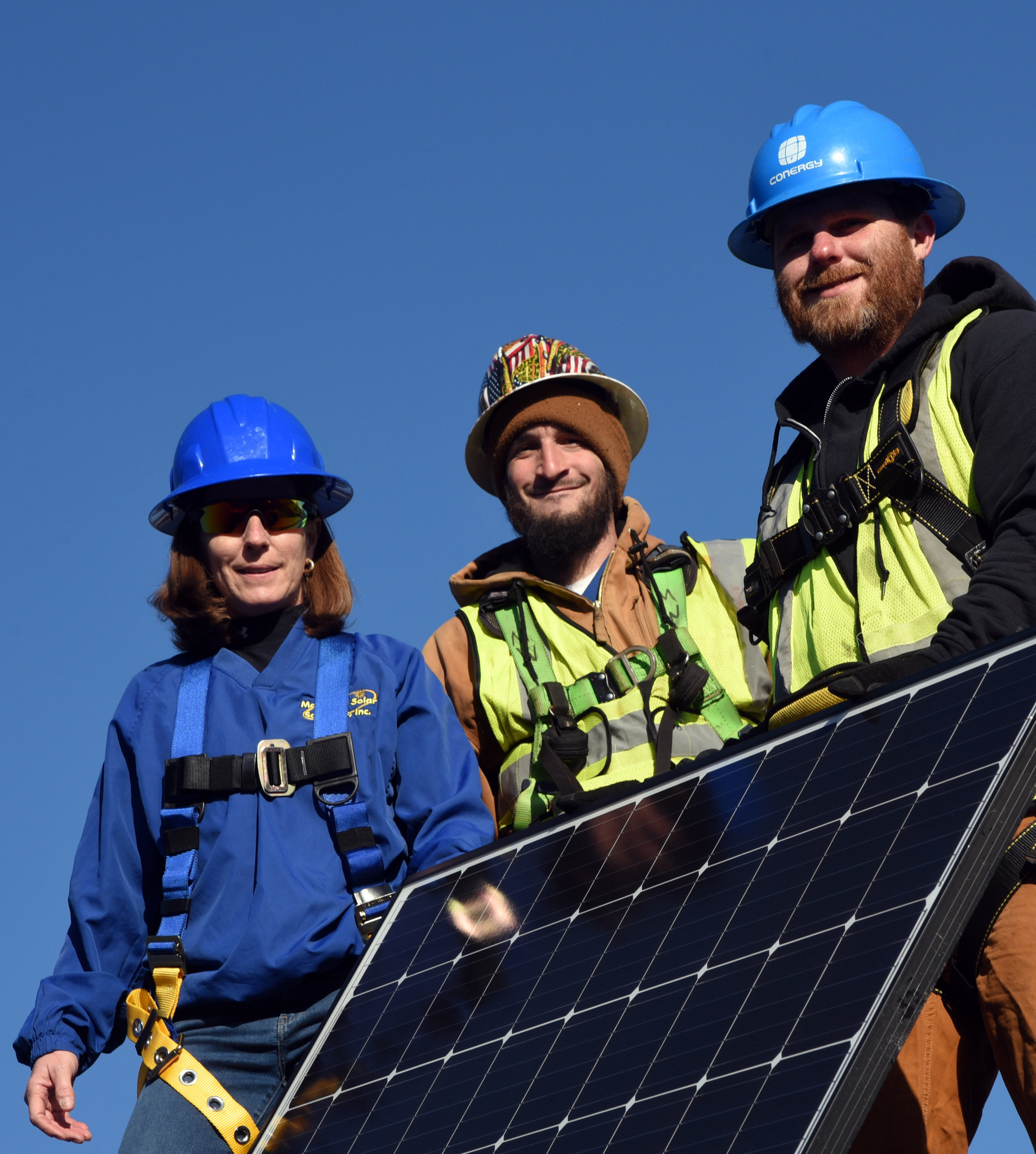 Colette Hayward, left, is founder and CEO of Maryland Solar Solutions, which has been named best of