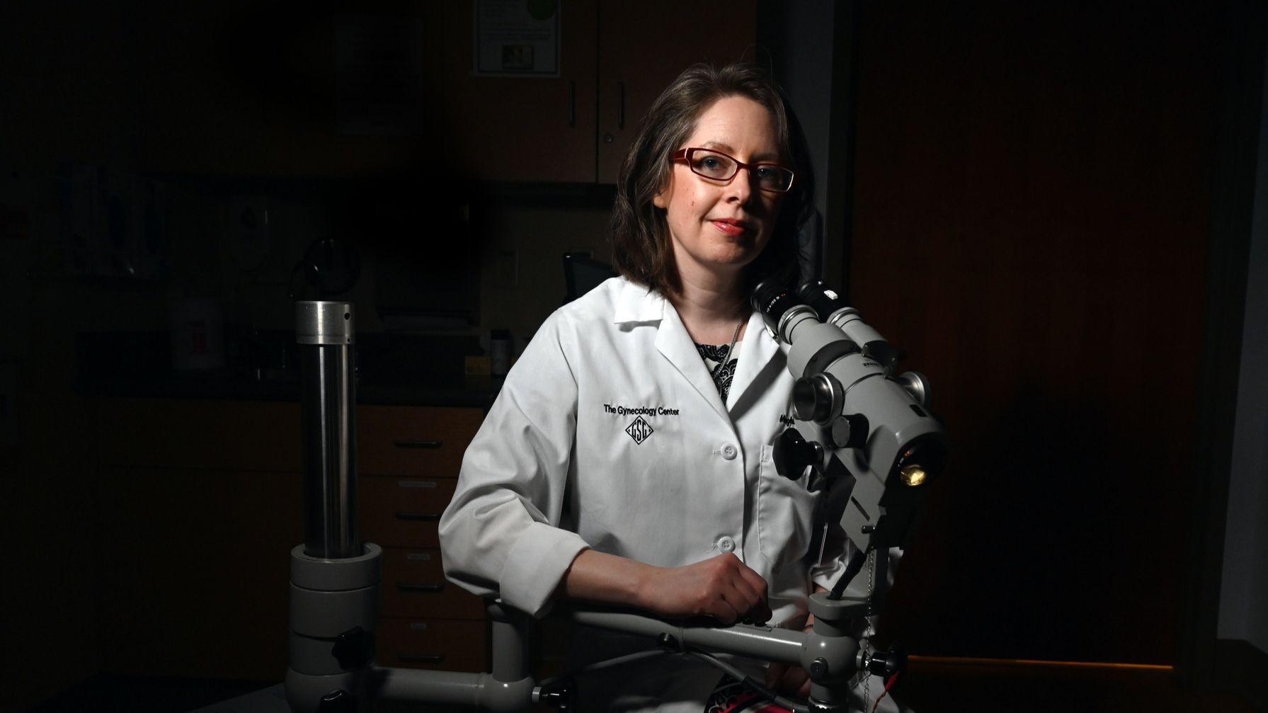 Near sighted gynecologist
