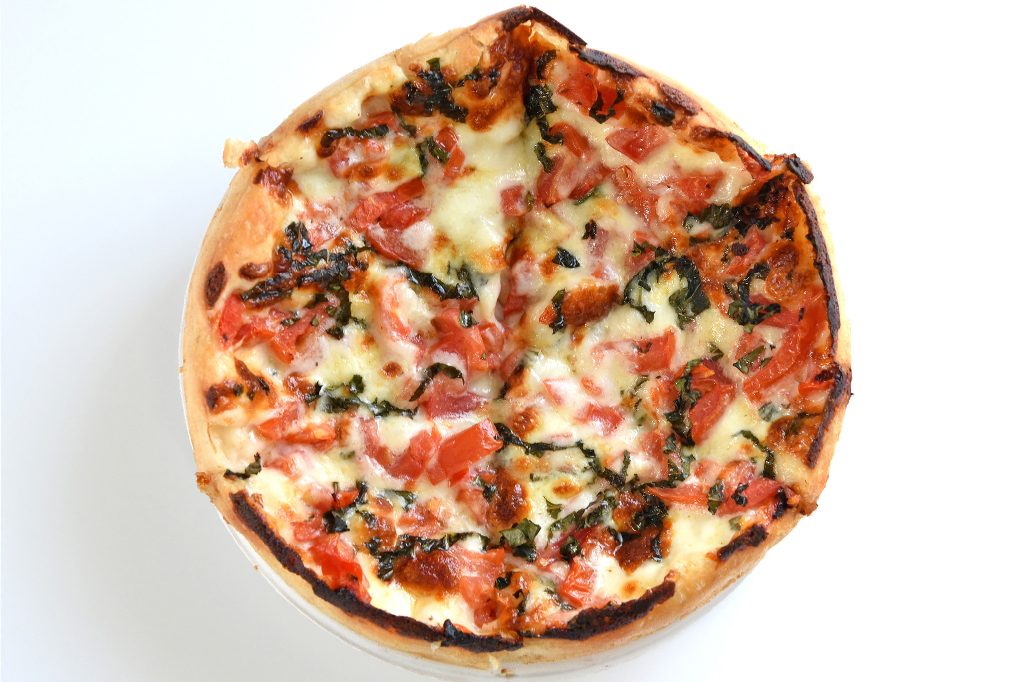 Baltimore, MD-6/28/16- The Margherita pizza, at Matthew's Pizza in Highlandtown. (For Dining Guide f