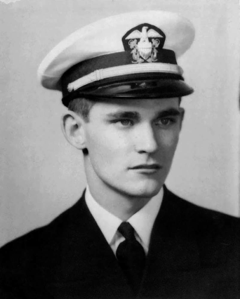 Ensign John C. England, USNR, (1920-1941) Who lost his life in the Japanese attack on Pearl Harbor,
