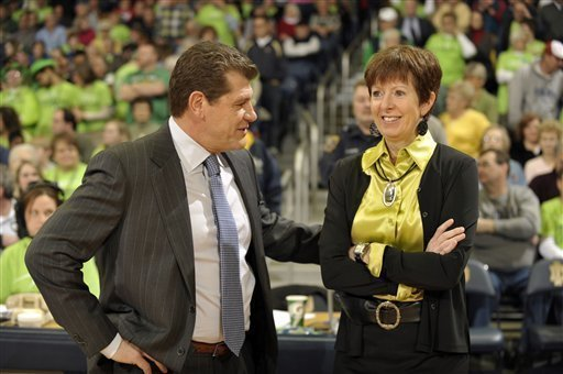 UConn's Geno Auriemma and Notre Dame's Muffet McGraw don't much like each other. Here's a history of their beef.