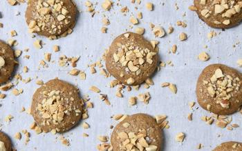 Salted Chunky Peanut Butter Cookies