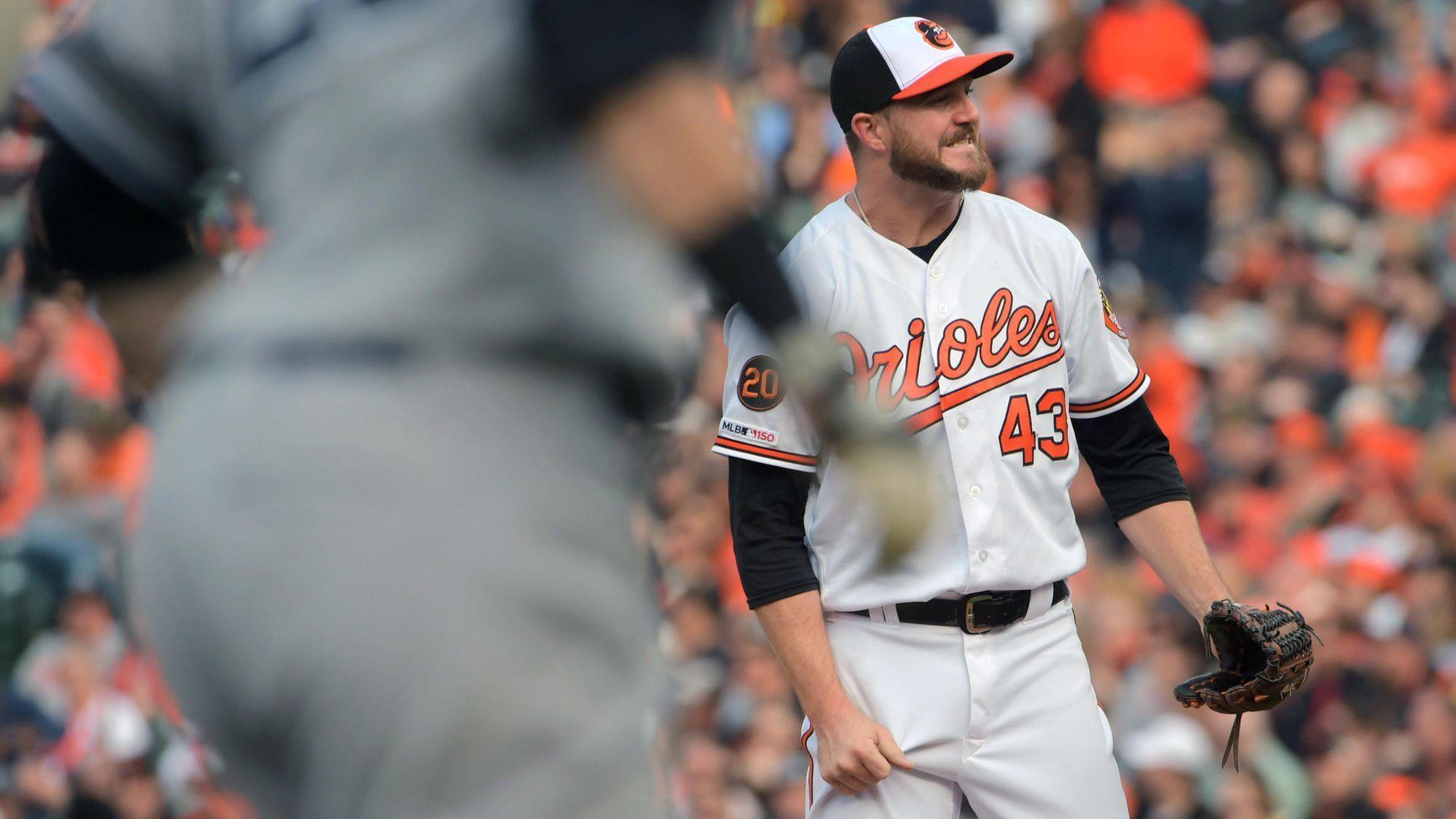 c87d6a897 Orioles bullpen can t back up Alex Cobb s strong debut in 8-4 loss to  Yankees in home opener