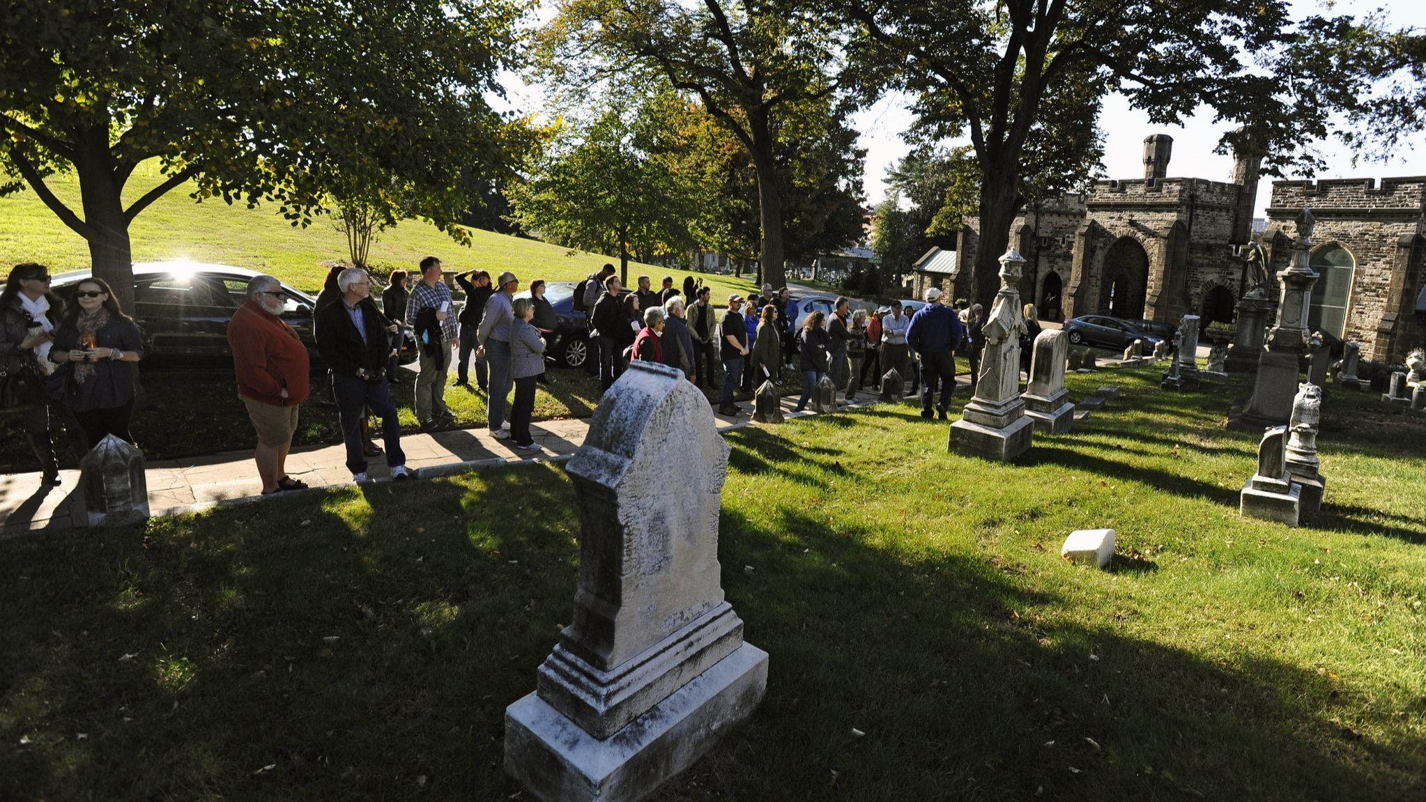 Baltimore, Md.--10/25/14-- ***NOTE: This is NOT the Maryland Historical Society cemetery tour.*** B
