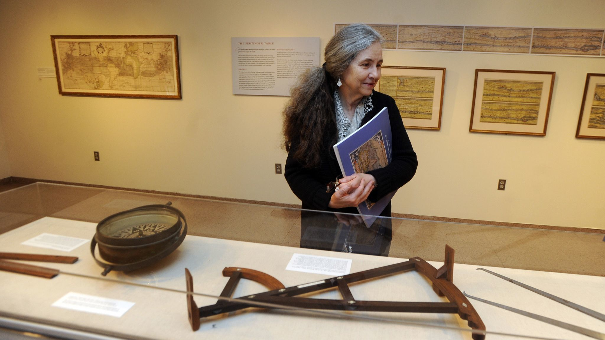 Annapolis, MD--March 13, 2013--Art Educator Lucinda Edinberg looks at navigational aids which are on