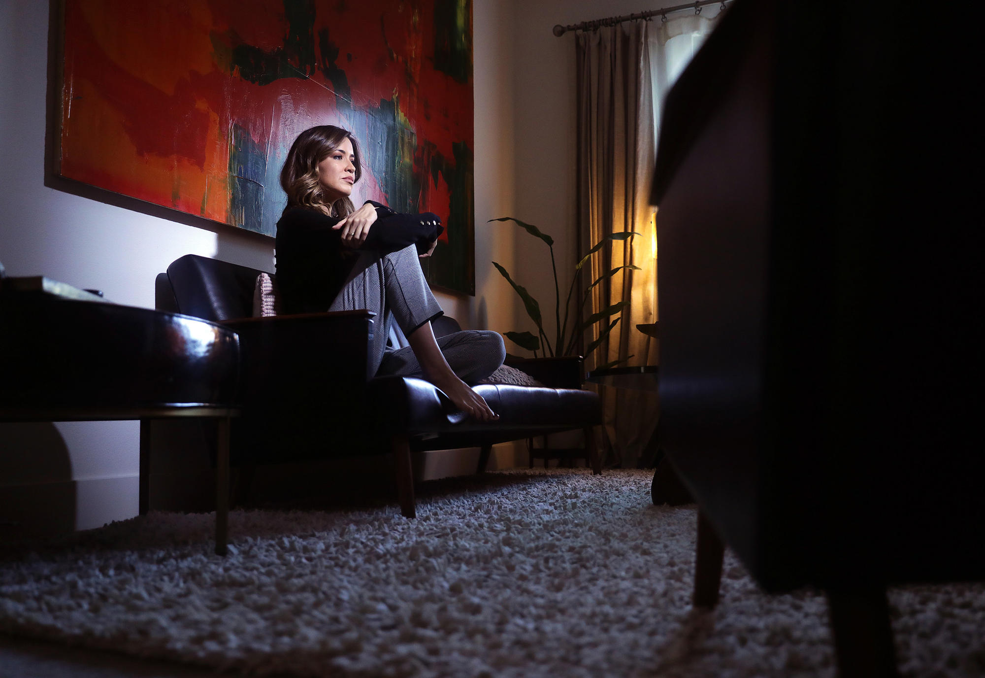Alejandra Campoverdi is photographed at her mother's home in Playa Vista.