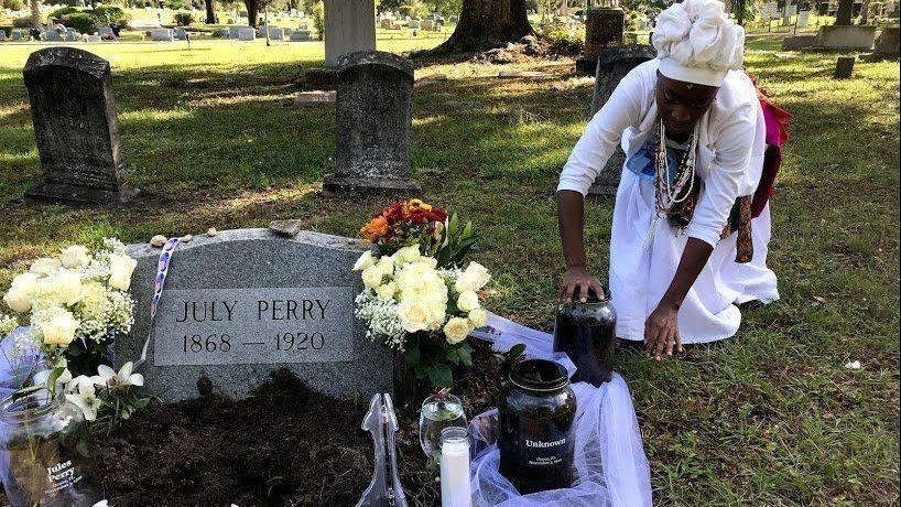 Ocoee Massacre: Marker Acknowledging Ocoee Massacre, July Perry's Lynching