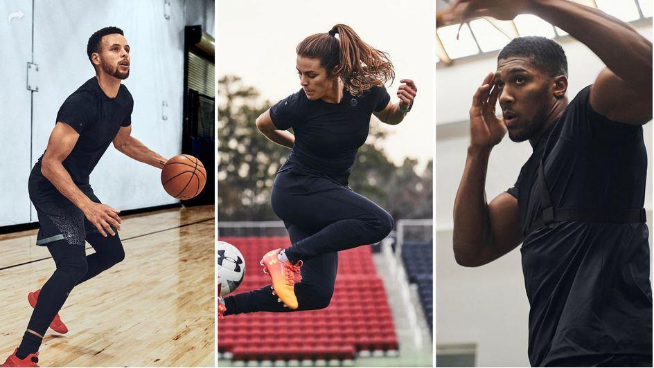 reputable site 3d8ba ffe80 Stephen Curry and other stars promote new performance ...